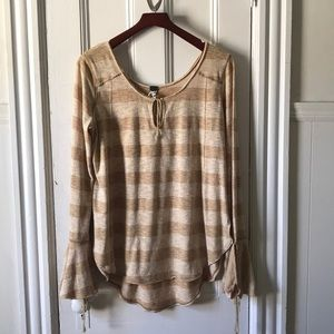 Free People Gold Toned Blouse